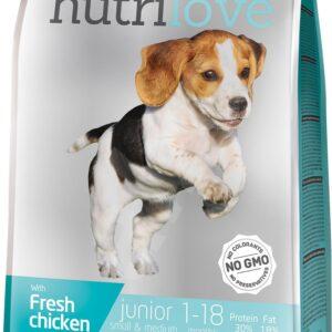 Nutrilove JUNIOR S&M pollo 1,6 kg